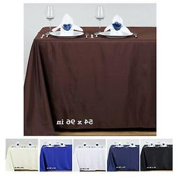 """54x96"""" Polyester Rectangle Tablecloths For Wedding Party Ban"""