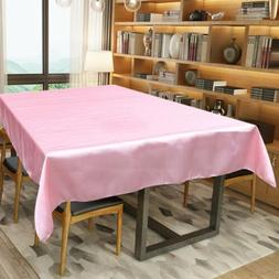 "57x120"" Satin Tablecloths Rectangle Fabric Table Cover Cloth"