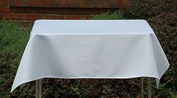 """58"""" x 58"""" SQUARE POLYESTER TABLECLOTH OR OVERLAY -MADE IN US"""