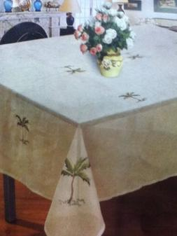 6 Chairs Rectangular 60X84 Palm Tree Tablecloth Cover Kitche