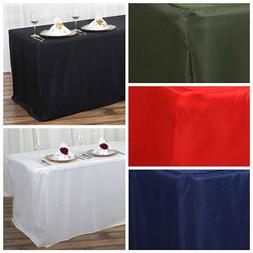 6 feet FITTED Polyester BANQUET Rectangle Tablecloth Wedding