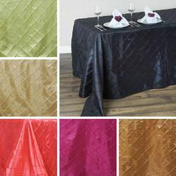 """6/pack PINTUCK RECTANGLE TABLECLOTHS 90x132"""" Wedding Party C"""