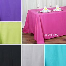 """6 pcs 90x132"""" RECTANGLE High Quality POLYESTER TABLECLOTHS W"""
