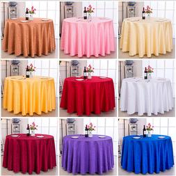 NEW 60''-120'' Round Polyester Tablecloth Cover for Wedding