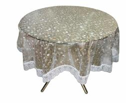 60-inch Plastic Material Waterproof Round Shape Table Cover