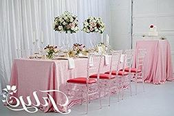 """TRLYC 60""""102"""" High Quailty Rectangle Blush Pink Sequin Table"""