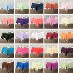 Tablecloth 60 x 102 in Rectangular Polyester Tablecloth Wedd