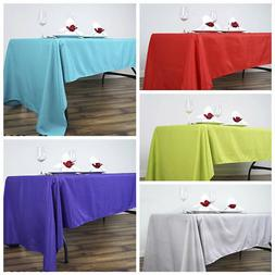 "60"" x 126"" Polyester Rectangular Tablecloth Wedding Catering"
