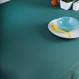 60 x 84 in. Cotton Hemstitch Tablecloth Hunter Green