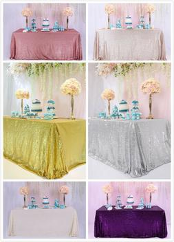 60''x120''  Sequin Tablecloth Rectangle Glitter Table Cloth