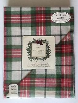 "Ridgefield Home 60""x84"" Oblong Tablecloth & Napkin Set Red,"