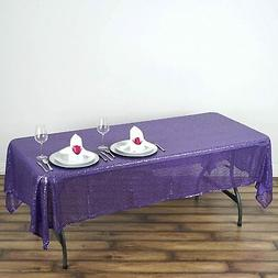 BalsaCircle 60x102-Inch Purple Rectangle Tablecloth for Wedd