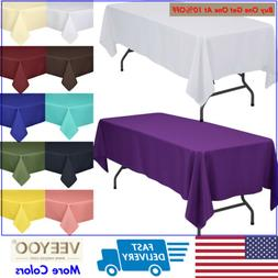 "60""X102"" Rectangle Tablecloth Poly Table Cover for Wedding P"