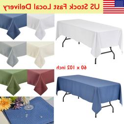 """60x102"""" Rectangle TABLECLOTHS Wedding Party Supply Linens Wa"""