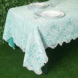 """60x108"""" Floral LACE Rectangular TABLECLOTH Wedding Party Tab"""