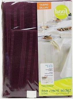 Food Network 60x120 Oblong Chenin Tablecloth with 10 Napkins