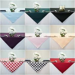 54 inch Square Overlay Tablecloth, 100% High Quality Polyest