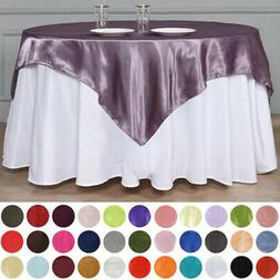 """60x60"""" Square SATIN Overlays Wedding Party Reception Dinner"""