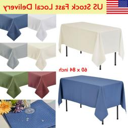 """60x84"""" Rectangle TABLECLOTHS Wedding Party Supply Linens Wat"""