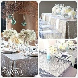 TRLYC 6FT 90''x132'' SALE! Choose your Size, Sequin Tableclo