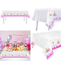 6Pack Plastic Unicorn Table Cover Disposable Tablecloth Magi
