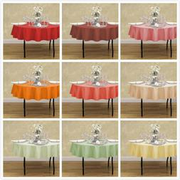 70 in round polyester tablecloths 10 pack
