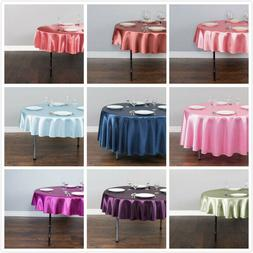 LinenTablecloth 70 in. Round Satin Tablecloths, 33 Colors! f