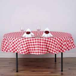 70 inch - Round Polyester Gingham Checkered Seamless Picnic