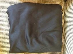 70  INCH ROUND TABLECLOTH BLACK 100% POLYESTER NEW