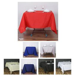 "70"" Premium Square Tablecloth For Wedding Party Banquet Even"