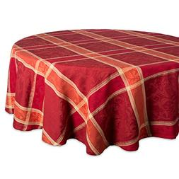DII 70 Round Cotton Tablecloth, Harvest Wheat - Perfect for