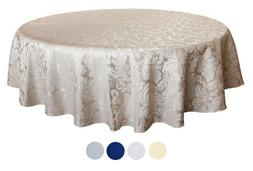 "Tektrum 70"" Round Damask Tablecloth-Waterproof/Spill Proof/S"