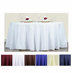 "70"" Round Polyester Tablecloth For Wedding Party Banquet Eve"