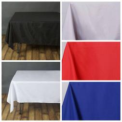 "70"" Square Polyester Tablecloths for Wedding Party - Stain W"