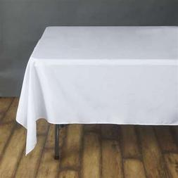 "70"" White SQUARE POLYESTER TABLECLOTH Wedding Party Catering"