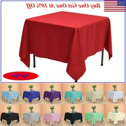 "70x70"" Square Tablecloth Polyester Table Cover for Wedding P"