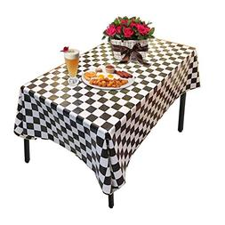 Creative Converting 725969 Border Print Plastic Tablecover,