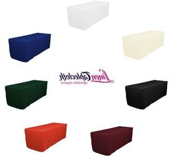 4 ft. Fitted Polyester Tablecloth, 7 Colors, Wedding & Trade
