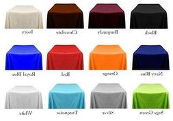 """8 Rectangle 90""""x132"""" inch Polyester Tablecloth 6ft Banquet C"""