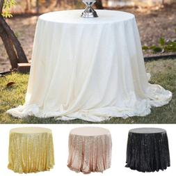 80cm Round Sparkle Sequin Tablecloth Cover For Wedding Party