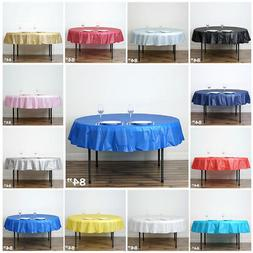 84 inch Round Disposable PLASTIC TABLE COVER Tablecloth Affo