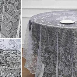 90-Inch Premium Lace Round Tablecloth Catering Wedding Home