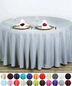 """90"""" Round Polyester Tablecloth Wedding Party Table Linens Su"""