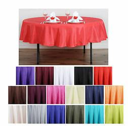 """90"""" Round Polyester Tablecloth For Wedding Party Banquet Eve"""