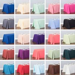 LinenTablecloth 90 x 132 in. Polyester Rectangular Tableclot