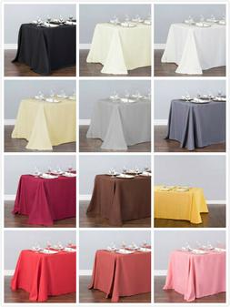 90 x 132 in rectangular poly tablecloths