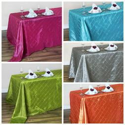 "90"" x 132"" Pintuck Tablecloth Wedding Party Table Linens goe"