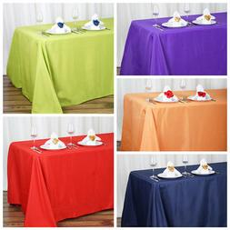 """90"""" x 132"""" Polyester Tablecloth Wedding Party Table Linens g"""