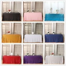 "90""x132"" Sequin Tablecloth Rectangle Tablecloth for Wedding"
