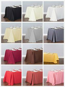 90X132 in. Polyester Tablecloth 33 Colors! Wedding Party Eve